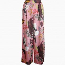 Floral Flared Pants - Rose