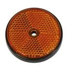 Carpoint reflectoren rond 70mm oranje 2st