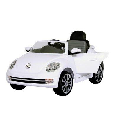 Accu-auto Volkswagen Beetle wit met MP3 / radio