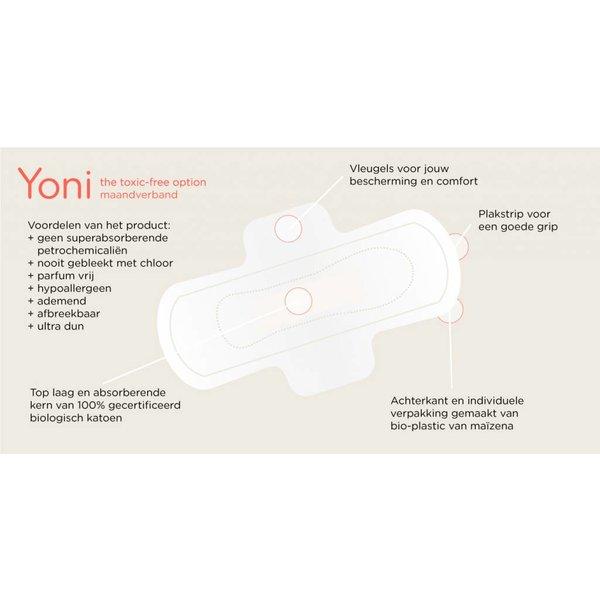 Yoni Yoni maandverband met vleugels