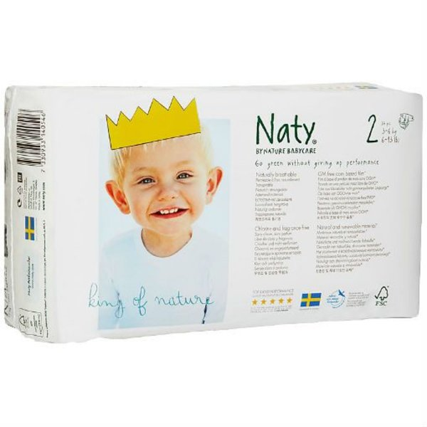 Naty By Nature Babycare Naty luiers 2 Mini (3-6 kg)