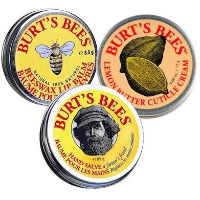 Burts Bees Tin Trio Set