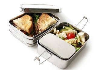 Ecolunchbox tijdens een picknick