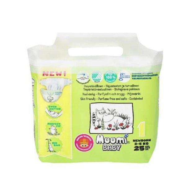 Muumi Muumi Ecologische baby luier maat 1 (2-5 kg)