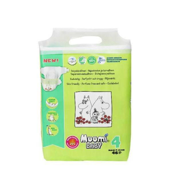 Muumi Muumi Ecologische baby luier maat 4 (7-14 kg)
