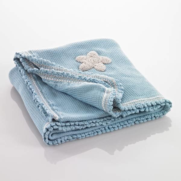 Pebble Pebble Organic deken - blauw met sterren