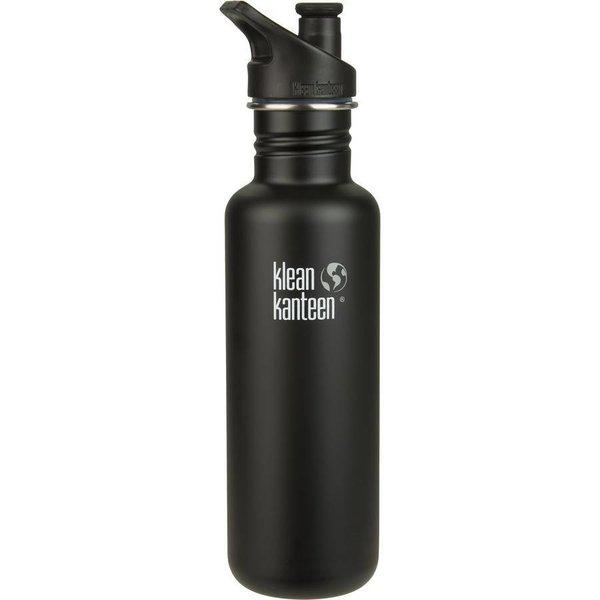 Klean Kanteen- rvsdrinkfles/ waterfles Klean Kanteen Classic Sport 800 ml zwart