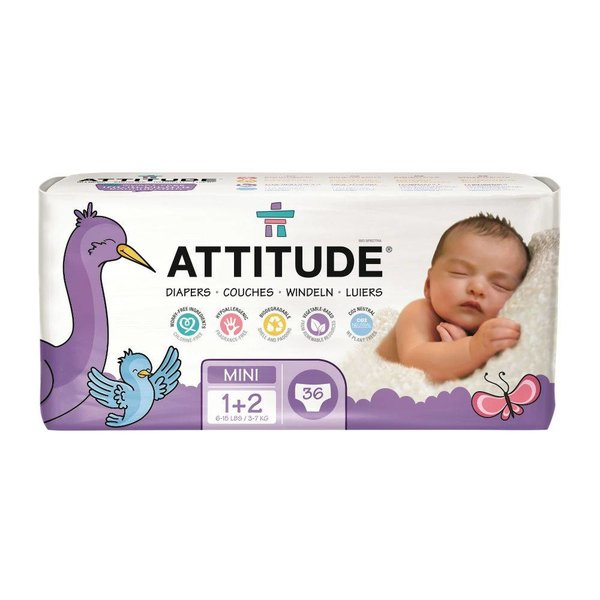 ATTITUDE Milieuvriendelijke Attitude eco-luiers Maat 1-2.