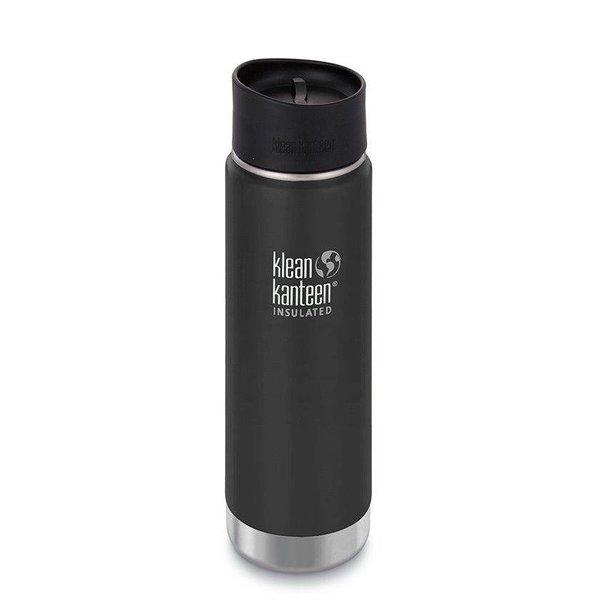 Klean Kanteen- rvsdrinkfles/ waterfles Klean Kanteen Wide thermosbeker café 592 ml zwart