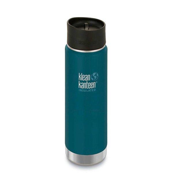 Klean Kanteen- rvsdrinkfles/ waterfles Klean Kanteen Wide thermosbeker café 592 ml blauw