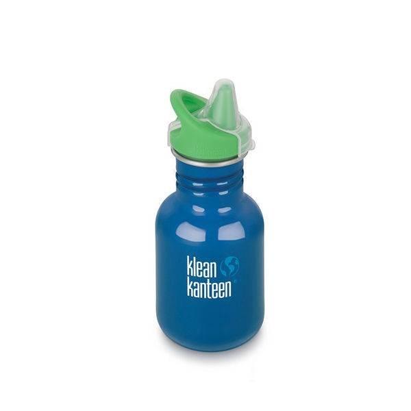 Klean Kanteen- rvsdrinkfles/ waterfles Kid Kanteen Sippy Tuitbeker 355 ml blauw