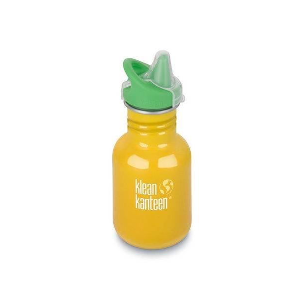 Klean Kanteen- rvsdrinkfles/ waterfles Kid Kanteen Sippy Tuitbeker 355 ml donkergeel