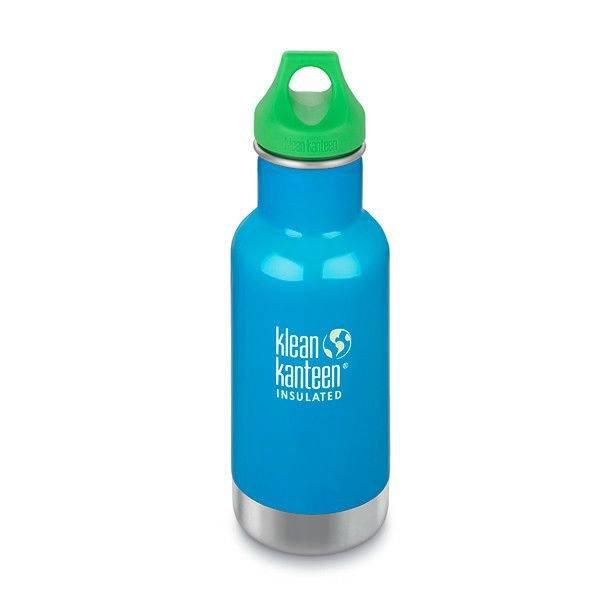 Klean Kanteen- rvsdrinkfles/ waterfles Kid Kanteen thermos drinkbeker 355 ml blauw