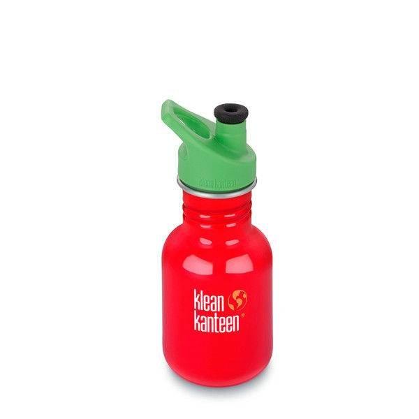 Klean Kanteen- rvsdrinkfles/ waterfles Kid Kanteen Sport Bidon 355 ml rood