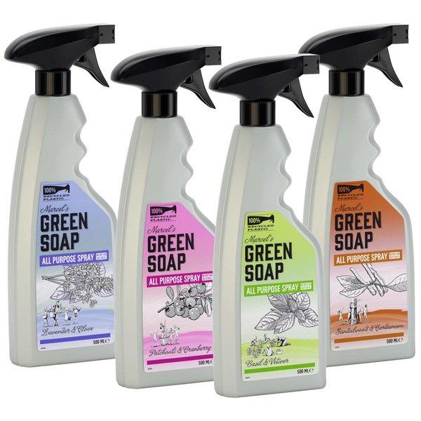 Marcel's Green Soap Marcel's Green Soap Allesreiniger spray Basilicum & Vetiver Gras