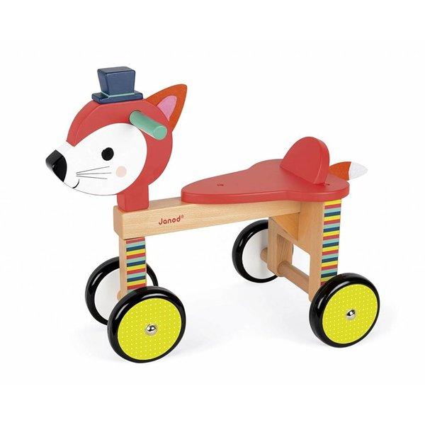 Janod Janod houten loopfiets - 4 wielen vos