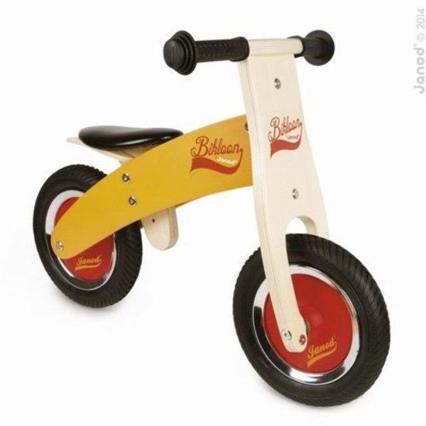 Janod My First Little Bikloon loopfiets – Oranje/Rood - Hout - 2 - 4 jaar