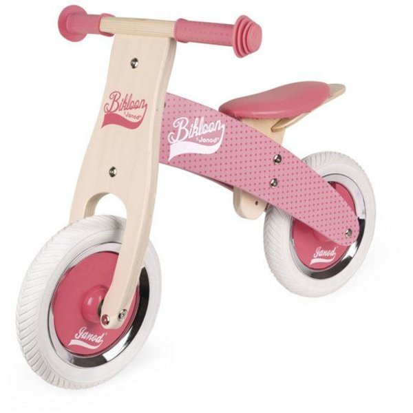 Janod Janod My First Little Bikloon loopfiets – Roze - Hout - 2 - 4 jaar