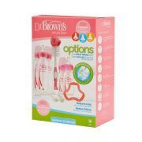 Dr Brown's fles Dr. Brown's Options Fles Giftset Standaard Roze