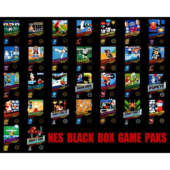 NES Games Boxed