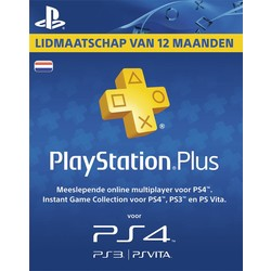 Sony Computer Entertainment PlayStation Plus Card NL (365 dagen)