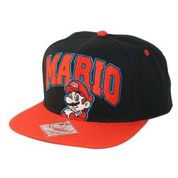 Bioworld NINTENDO MARIO SNAPBACK BLACK AND RED