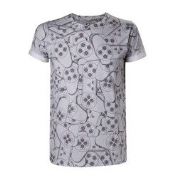 Bioworld PLAYSTATION - CONTROLLER SUBLIMATION T-SHIRT