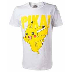 Bioworld POKÉMON - PIKACHU T-SHIRT WITH RAISED PRINT