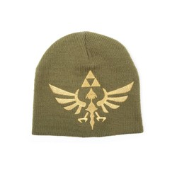 Bioworld ZELDA BEANIE WITH WOVEN GOLDEN LOGO