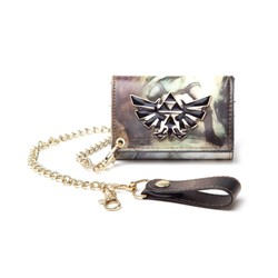 Bioworld NINTENDO - ALL OVER PRINTED ZELDA TRIFOLD CHAIN WALLET