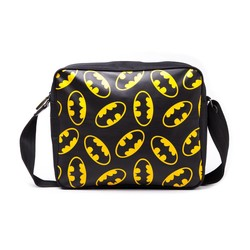 Bioworld BATMAN BLACK MESSENGER BAG WITH CLASSIC LOGO