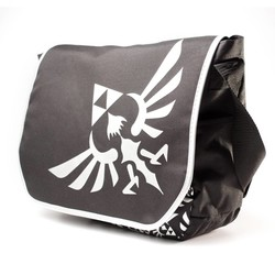 Bioworld NINTENDO - ZELDA BLACK MESSENGER BAG WITH SILVER LOGO