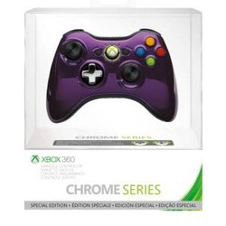 Microsoft Microsoft Wireless Controller Xbox 360 Chrome Series (Paars)