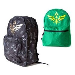 Bioworld NINTENDO - ZELDA REVERSIBLE BACKPACK GREENBLACK