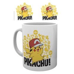 Pokemon - Ash Hat Pikachu Mok / Mug