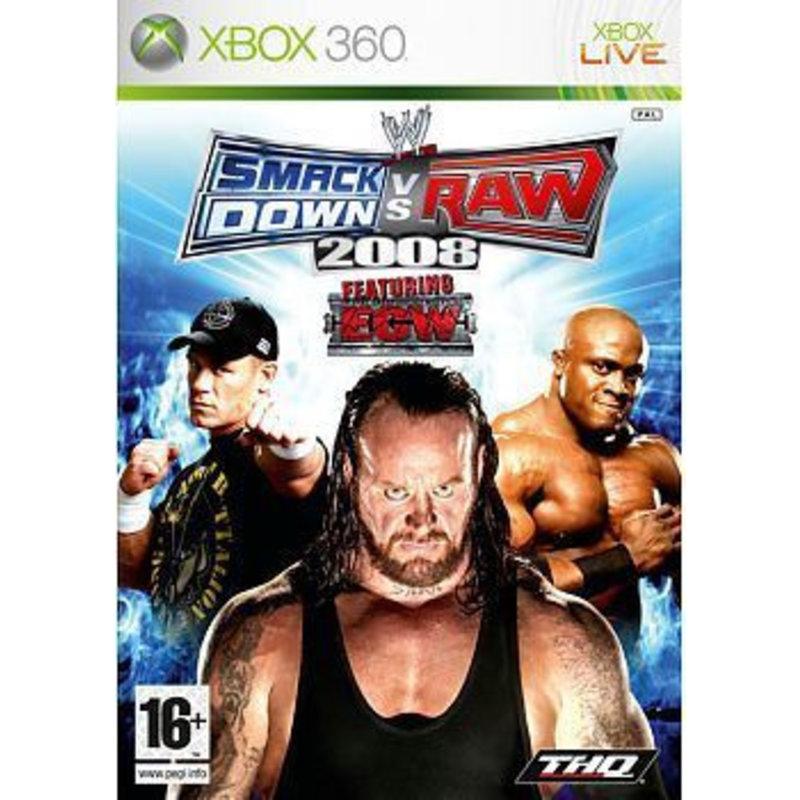 THQ WWE SmackDown vs RAW 2008 - Xbox 360 [Gebruikt]