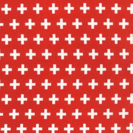 Robert Kaufman Remix rood met wit