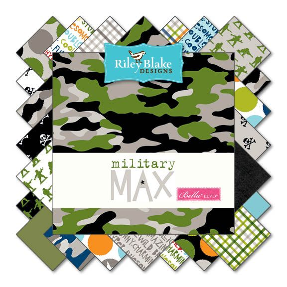 Riley Blake Military Max Plaid