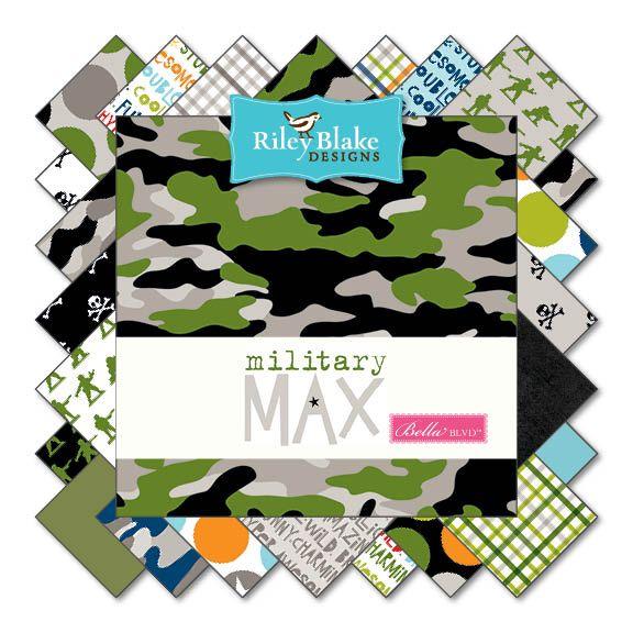 Riley Blake Military Max Camo