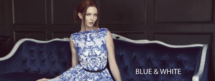 Michael Miller Bleu & White: Tourjours Bleu et Blanc