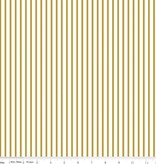 Riley Blake Riley Blake fabric Gold Wonderland stripe