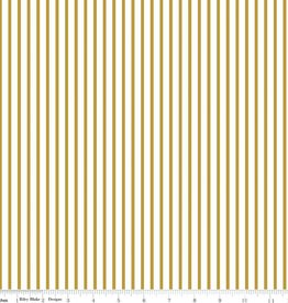 Riley Blake Riley Blake Gold Wonderland stripe