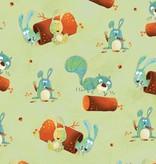 Henry Glass & Company Woodsy Wonders animals mint groen