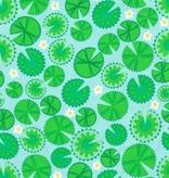 Ella Blue fabrics Ella Blue Pondlife Lilypads green