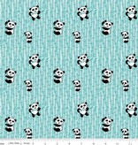 Riley Blake Panda Love Bamboo aqua