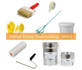 Pakket Epoxy Vloercoating 2-laags - 60m2