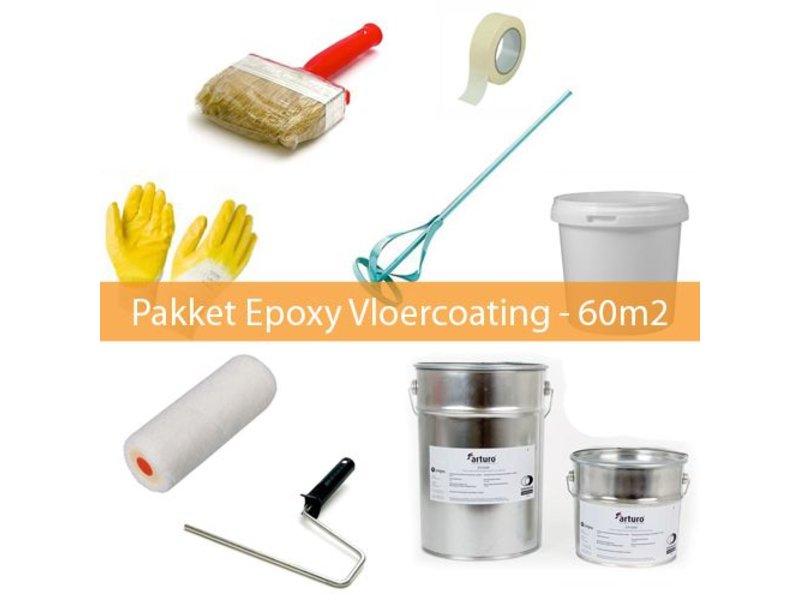 Coatingwinkel Pakket Epoxy Vloercoating 2-laags - 60m2