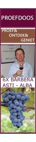 Proefdoos met 6 schitterende Barbera wijnen