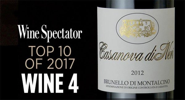 WineSpectator- TOP 100 2017 - Casanova di Neri - Brunello di Montalcino 2012