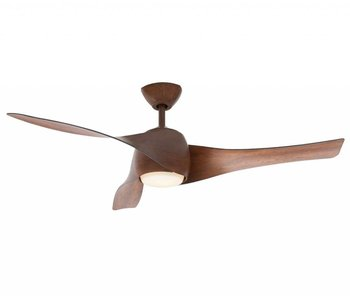 MinkeAire Artemis Dark Koa ceiling fan 147 cm with lamp type 210309